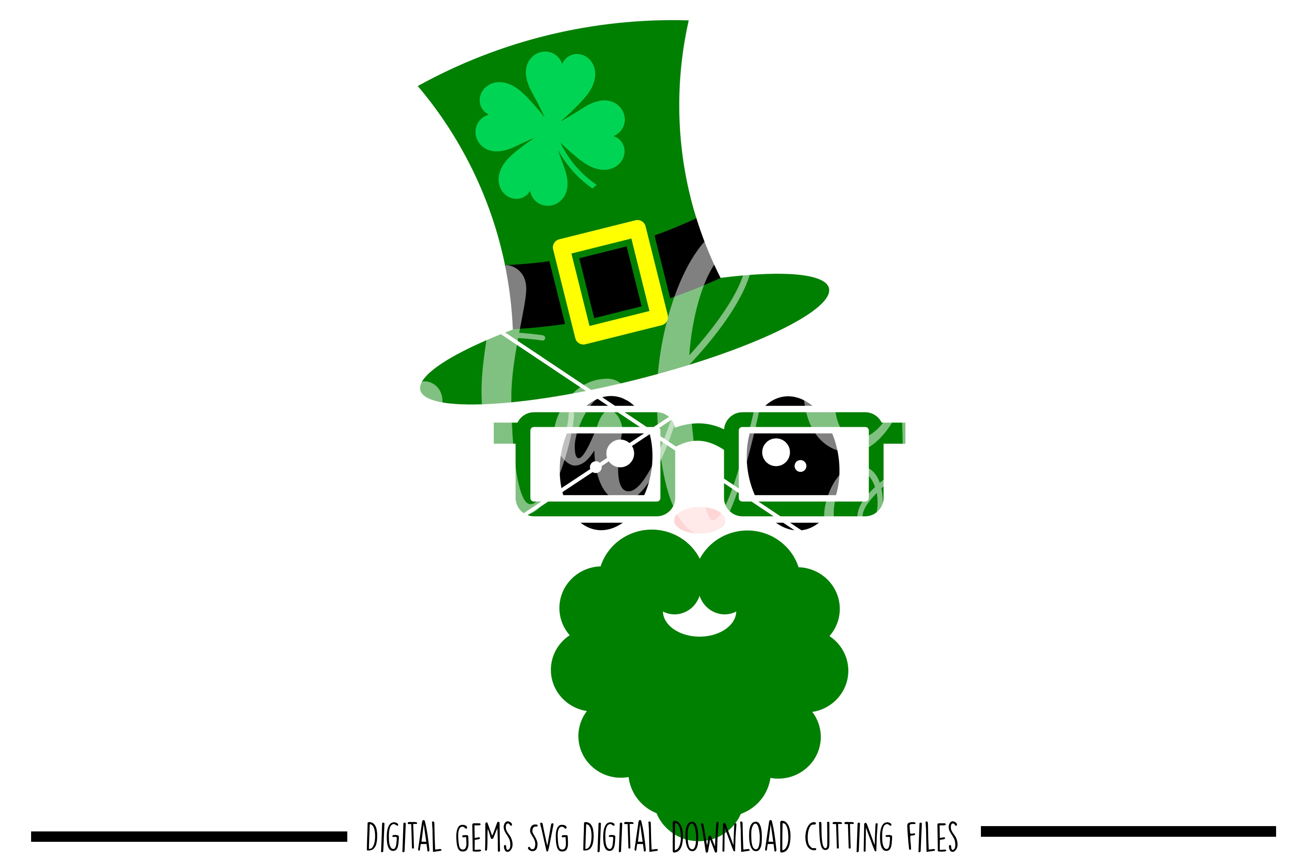St Patrick's Day leprechaun SVG / PNG / EPS / DXF Files example image 1