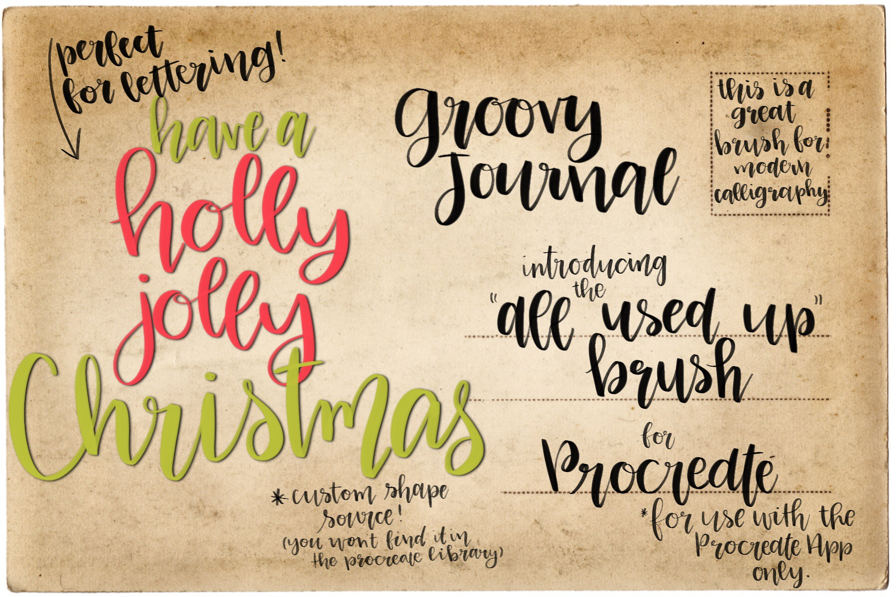 Procreate Hand Lettering Brush example image 1