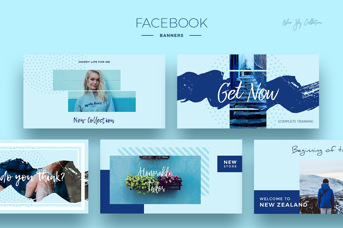 Blue Sky Social Media Designs example image 3