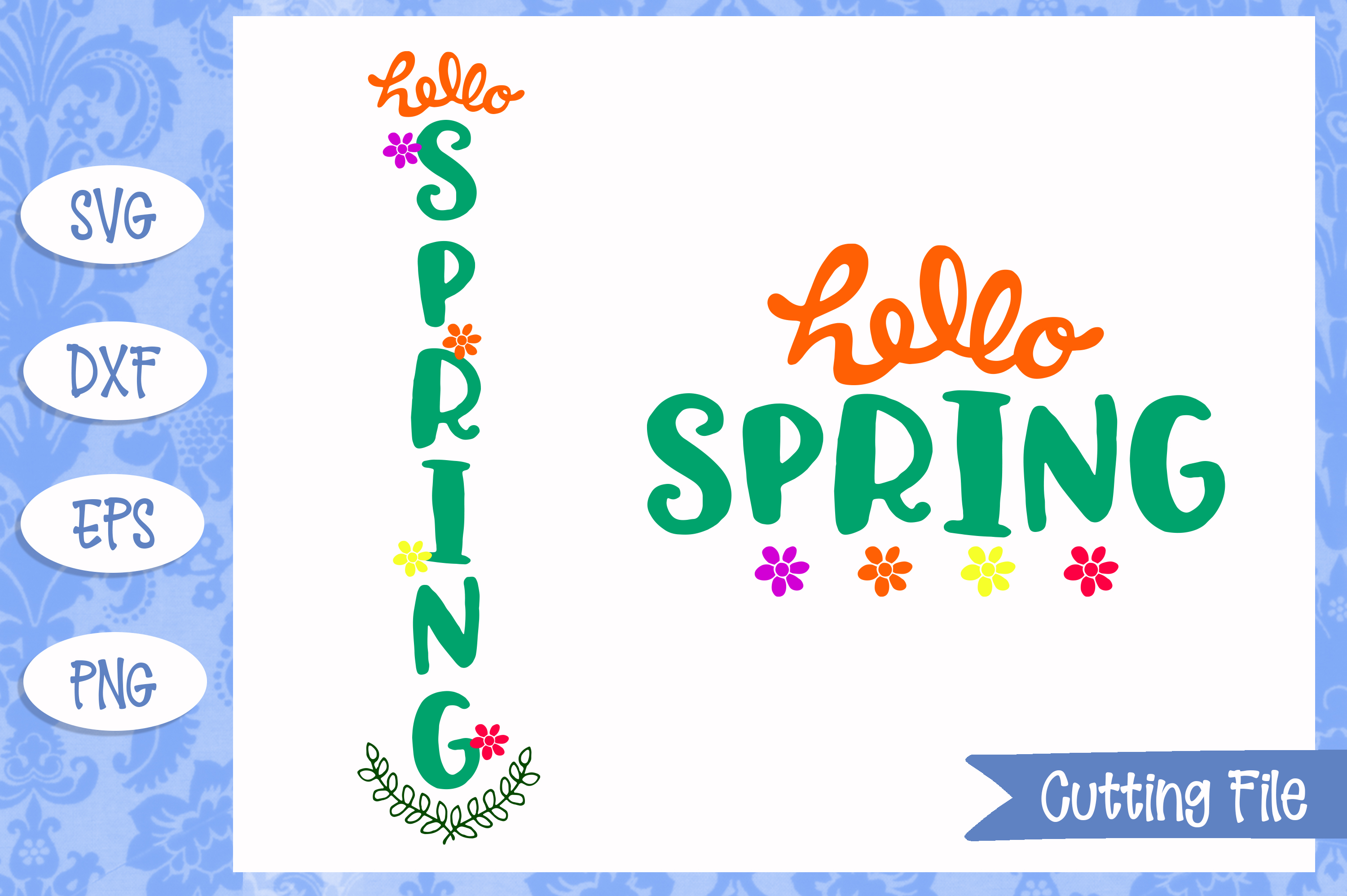 Hello Spring SVG File example image 1
