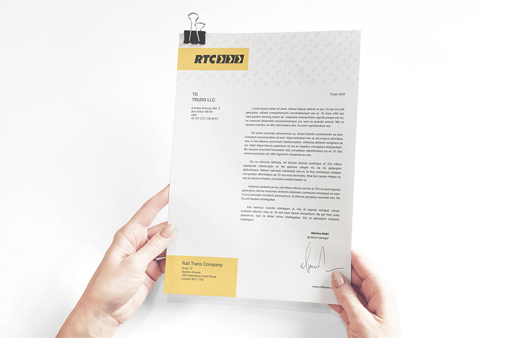 A4 Paper / Business Letter / Letterhead Mockup example image 2