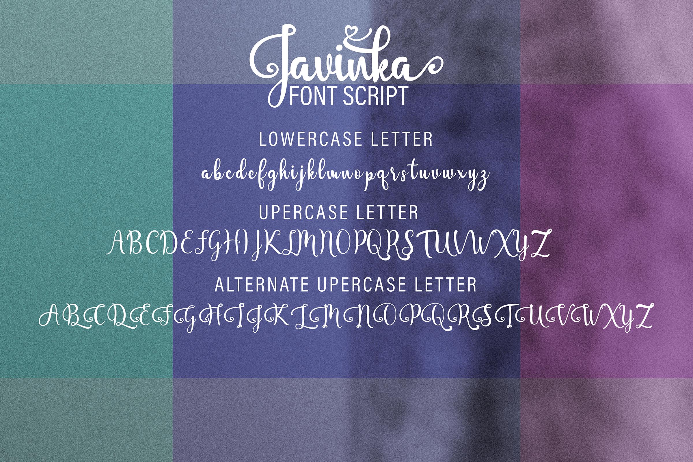 Javinka font example image 10