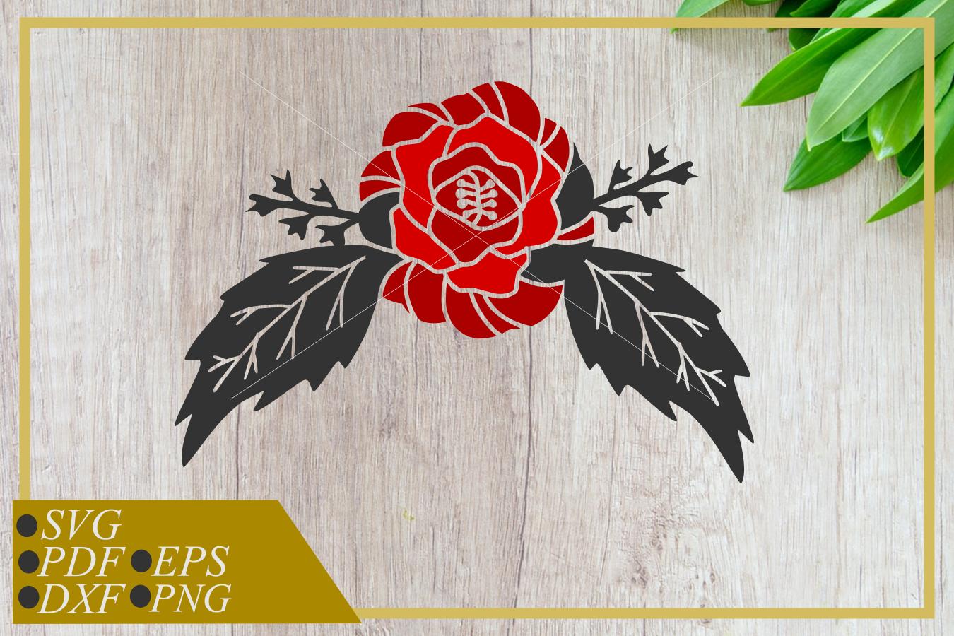Rose Flower svg, single flower, instant download, cut file example image 1