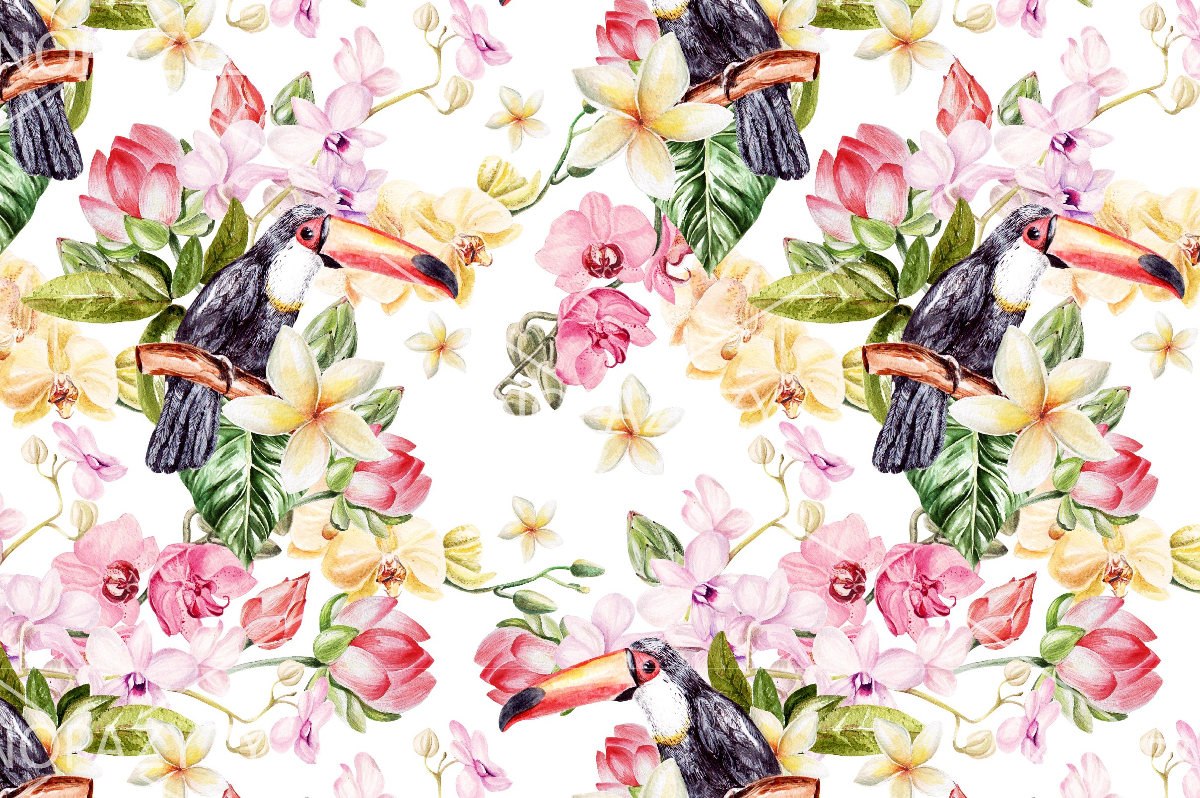 16 Hand Drawn Watercolor Pattern example image 11