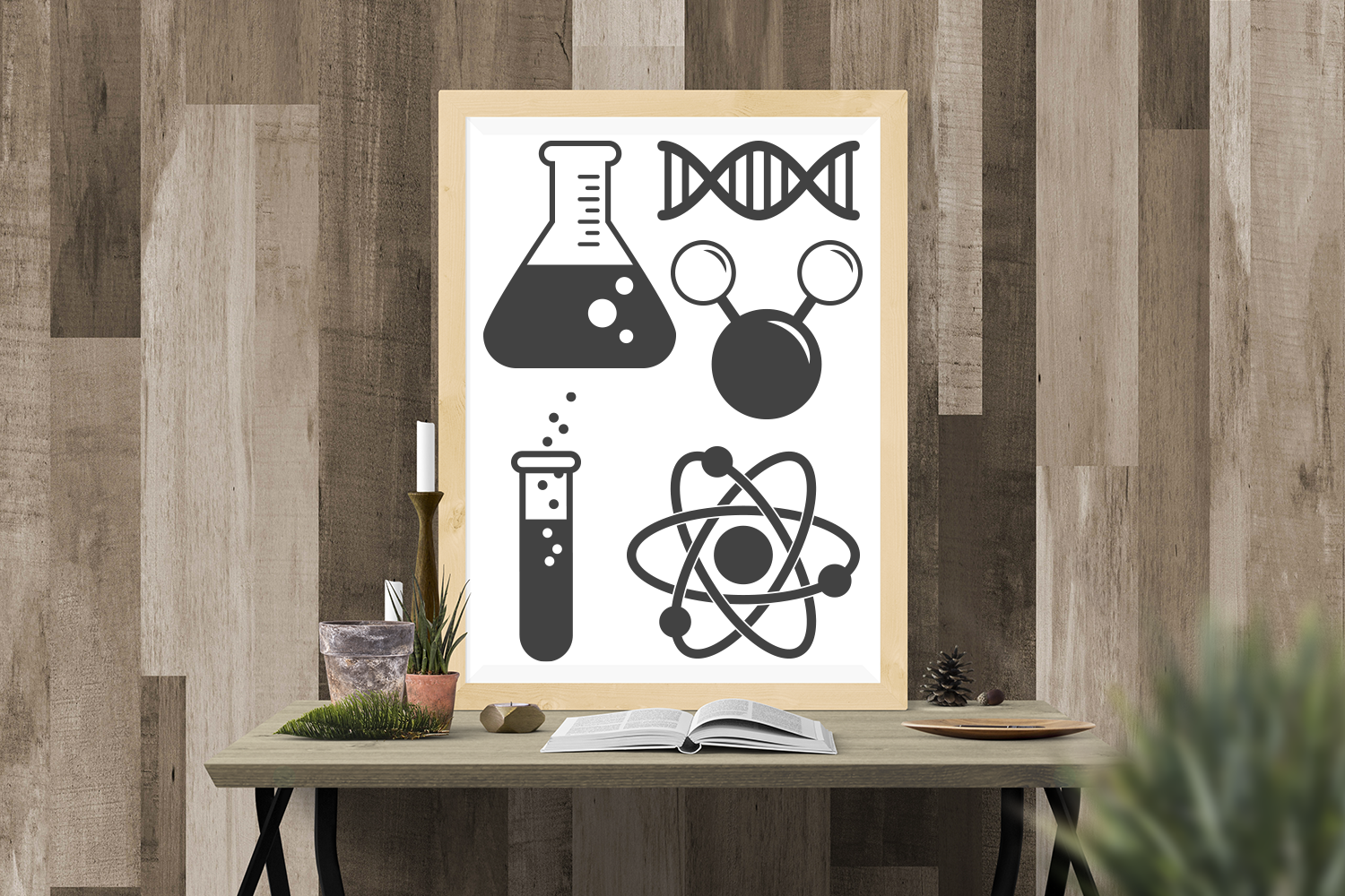 Science Symbols SVG File Cutting Template Set example image 1