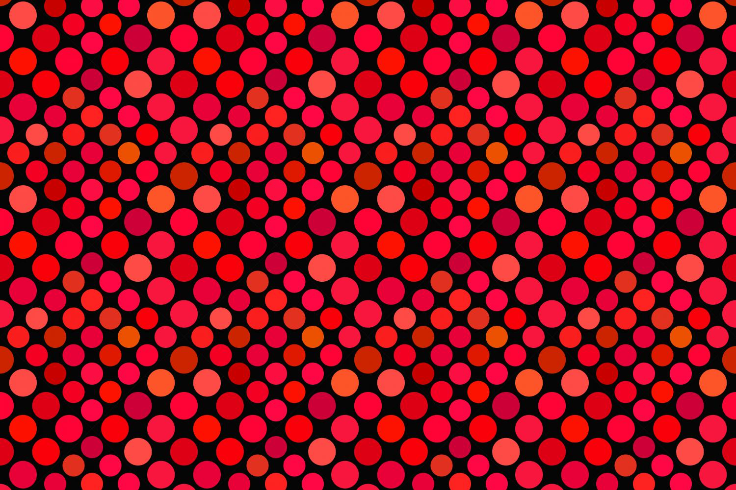 24 Seamless Red Dot Patterns example image 11