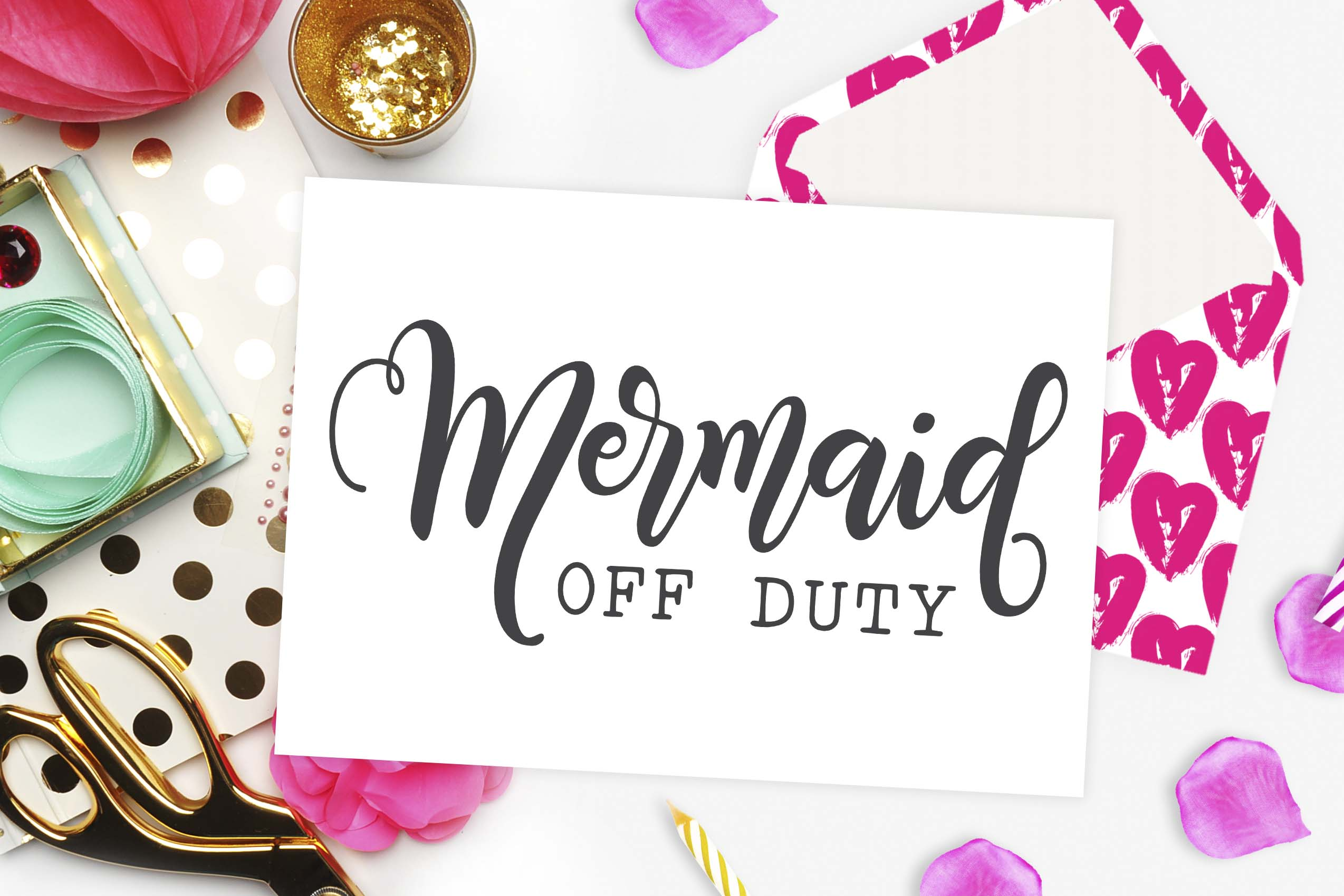 Mermaid off duty SVG DXF PNG EPS example image 2