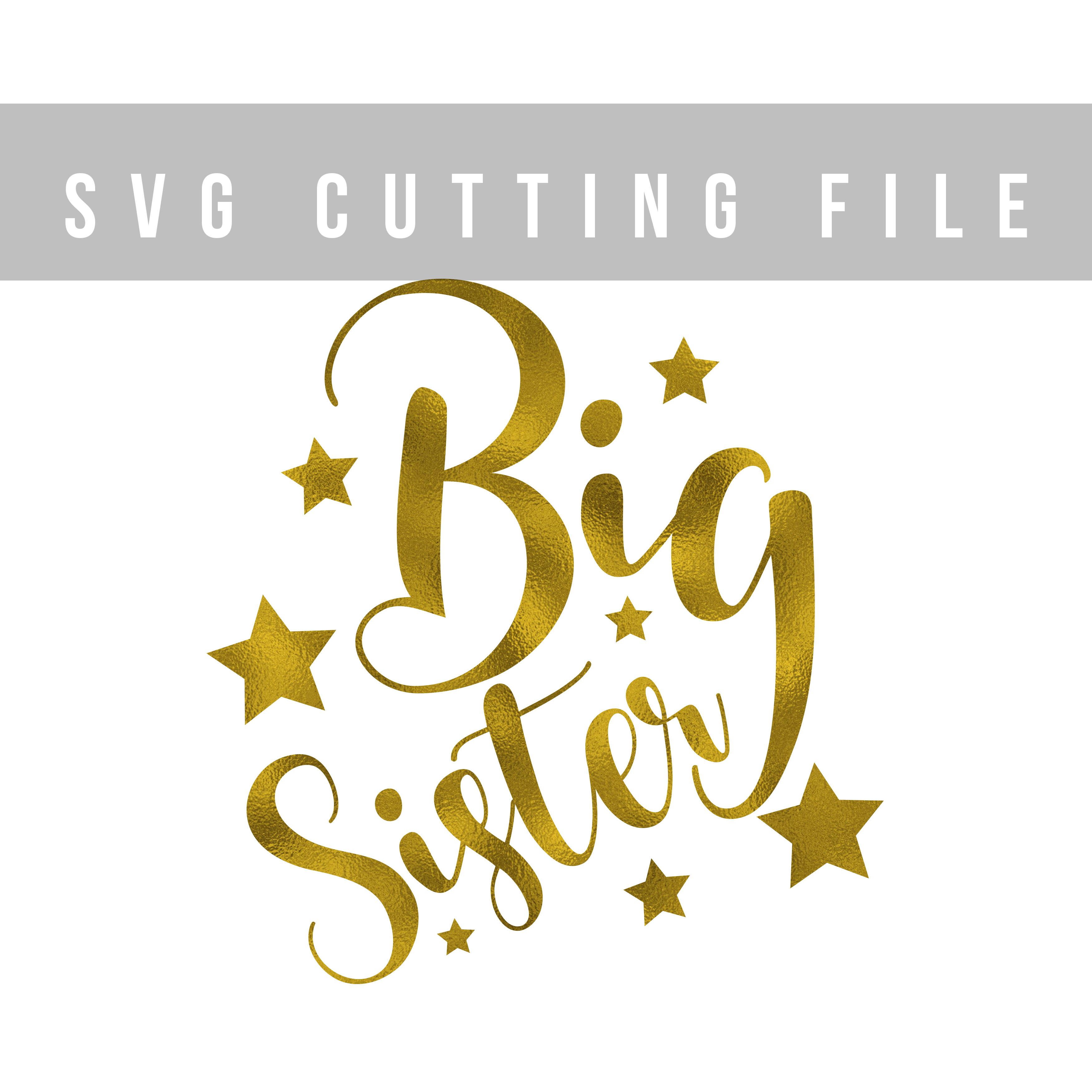 Big sister SVG EPS PNG DXF, Kids svg file, Girl svg design example image 2