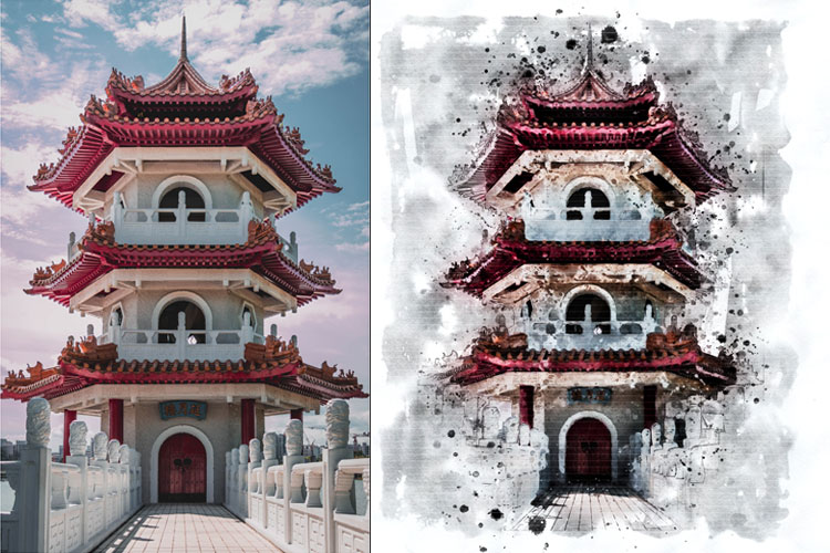Water-Ink Photoshop Action example image 5