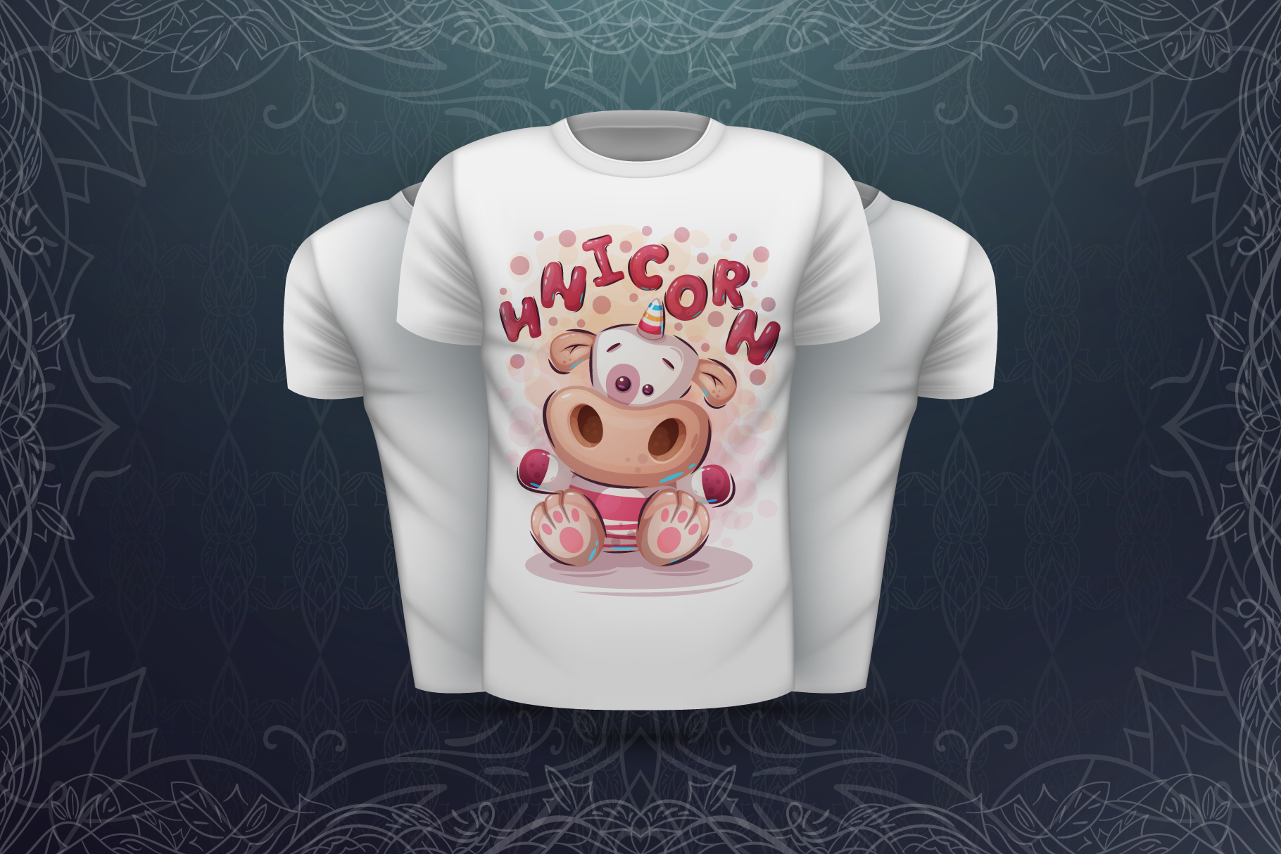 Set cute animals - for print t-shirt example image 4