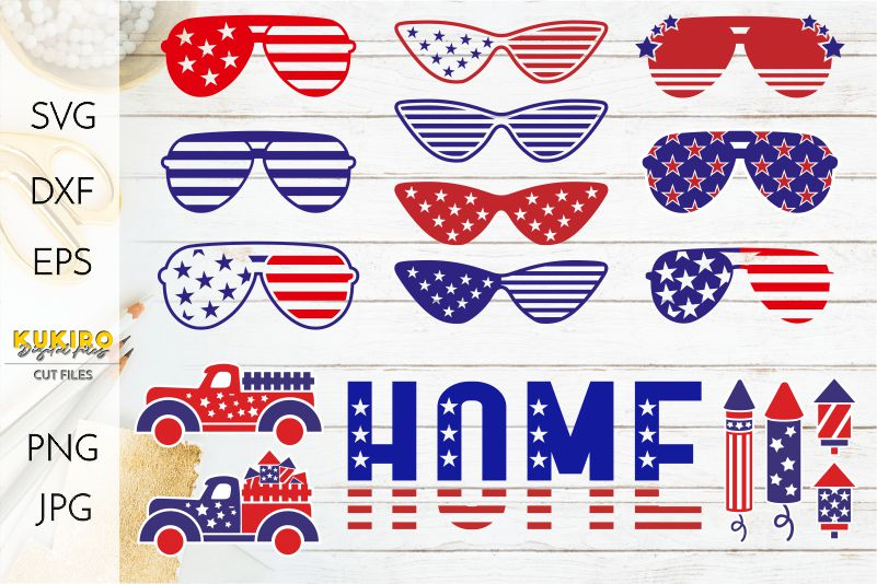 4th of July Bundle SVG - Big Patriotic Cut files Bundle example image 5