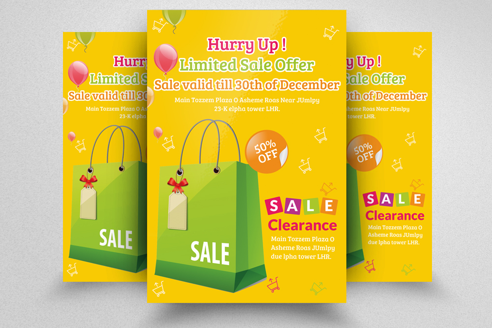 6 Big Sale Offer Flyers Bundle example image 3