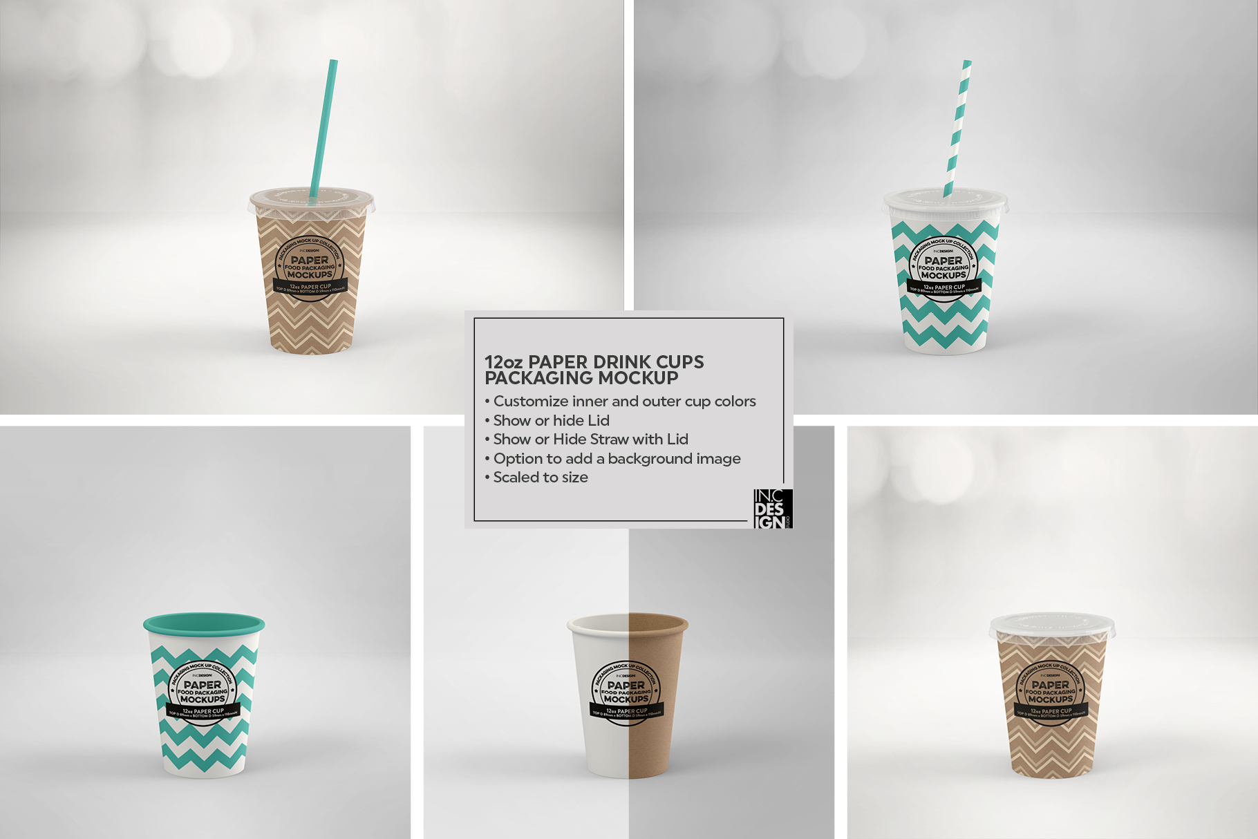 Paper Drink Cups Packaging Mockup example image 10