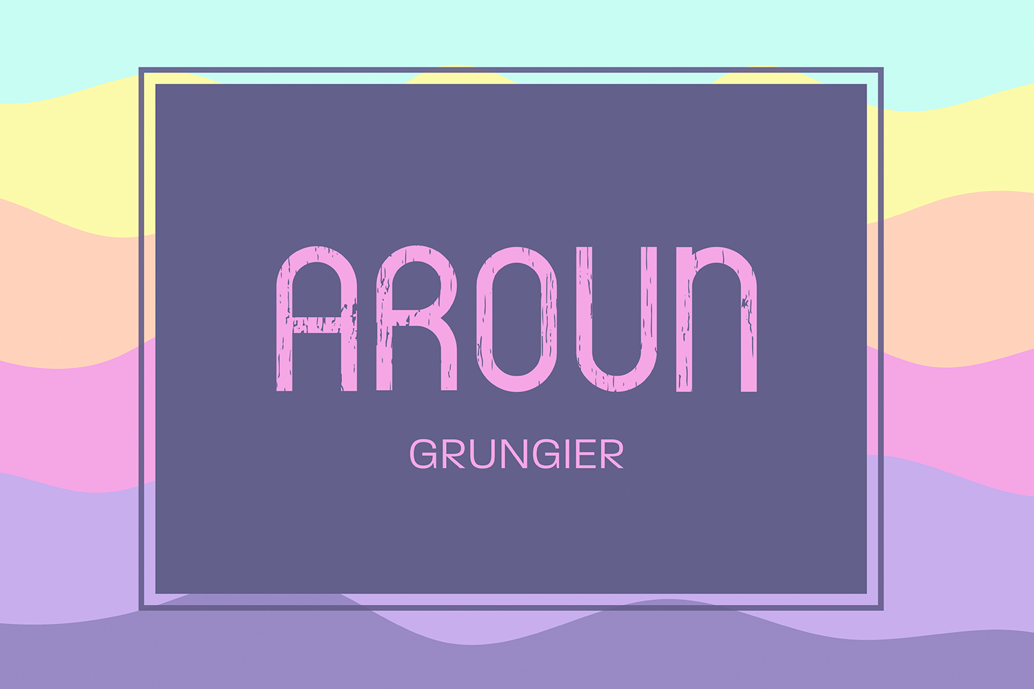 Aroun|All Caps Typeface| 5 Styles Included example image 6