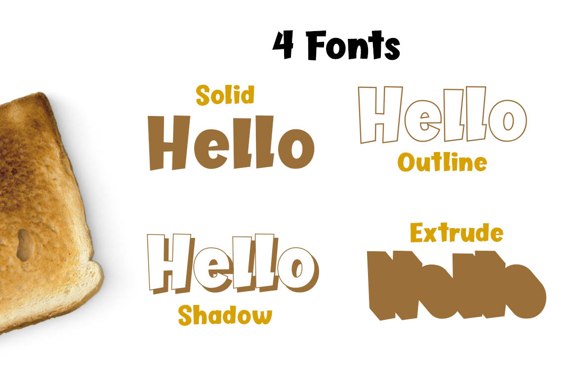 Butter Layer - 4 Fonts example image 2