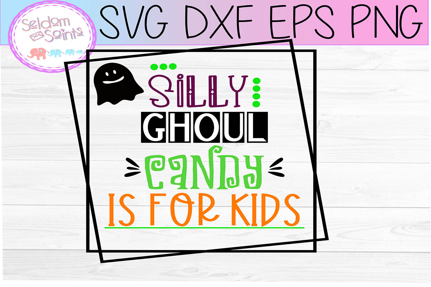 Silly Ghoul Candy is for Kids SVG PNG DXF EPS example image 2