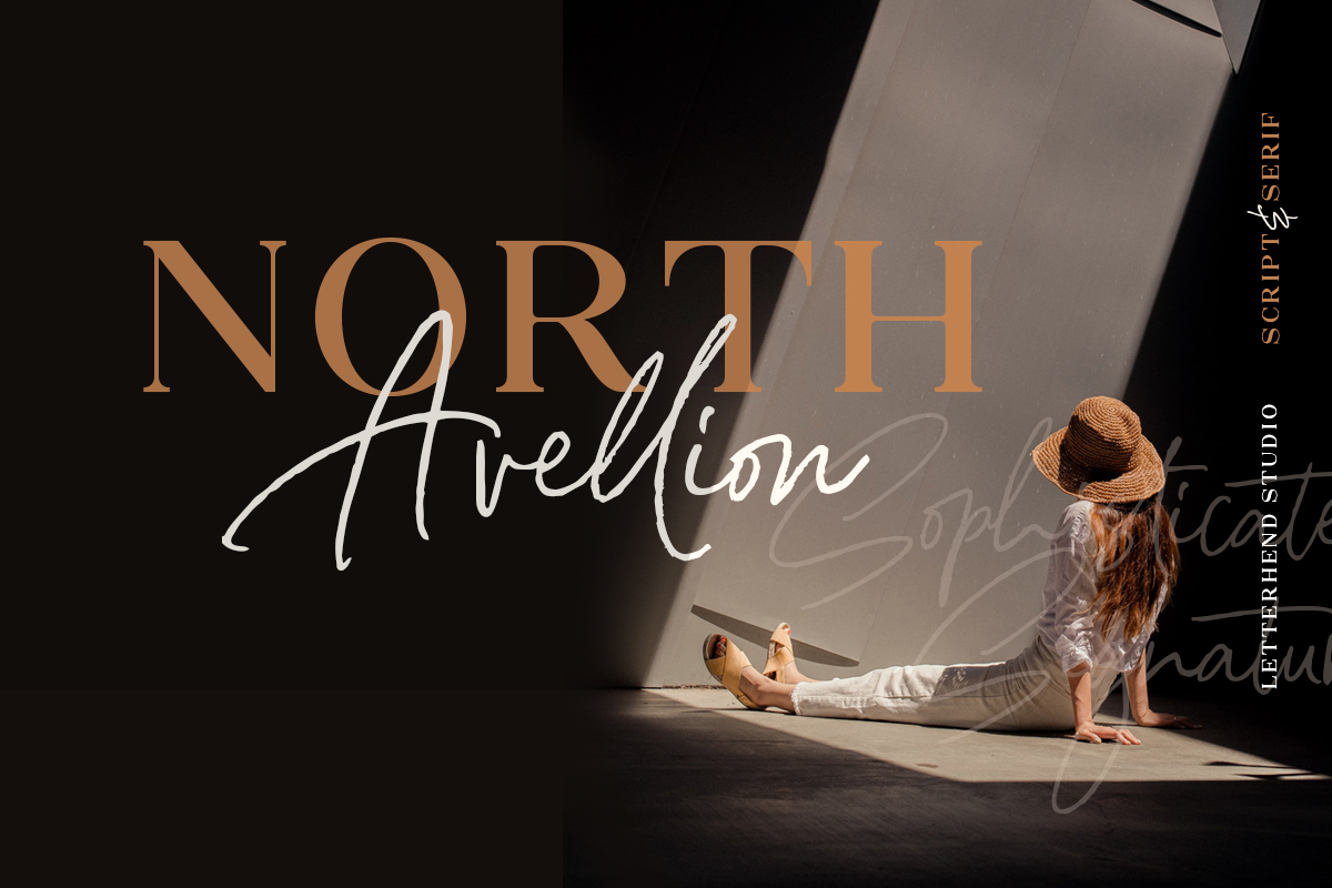 North Avellion - Script & Serif Duo example image 2