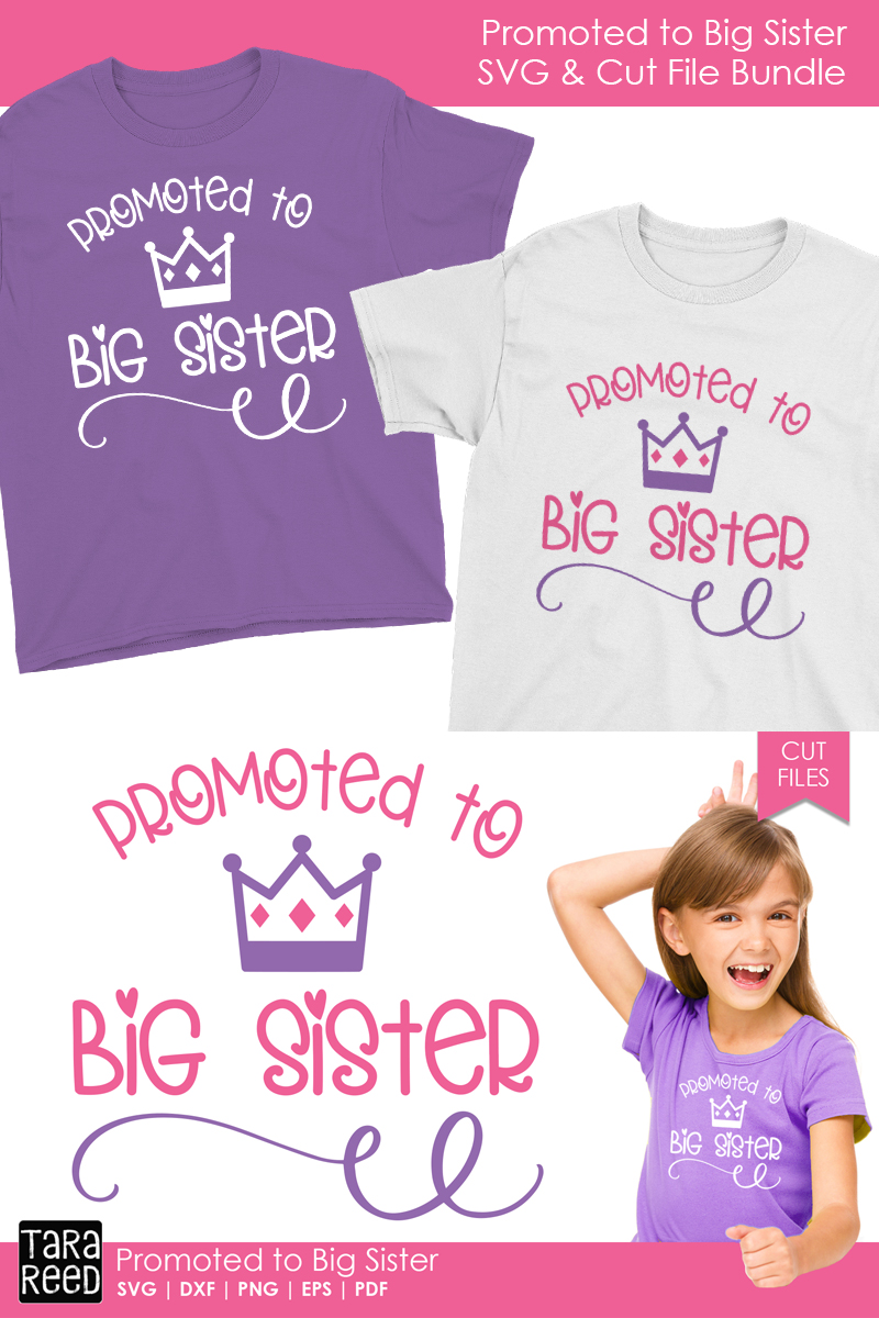 Promoted to Big Sister - Family SVG and Cut Files example image 2