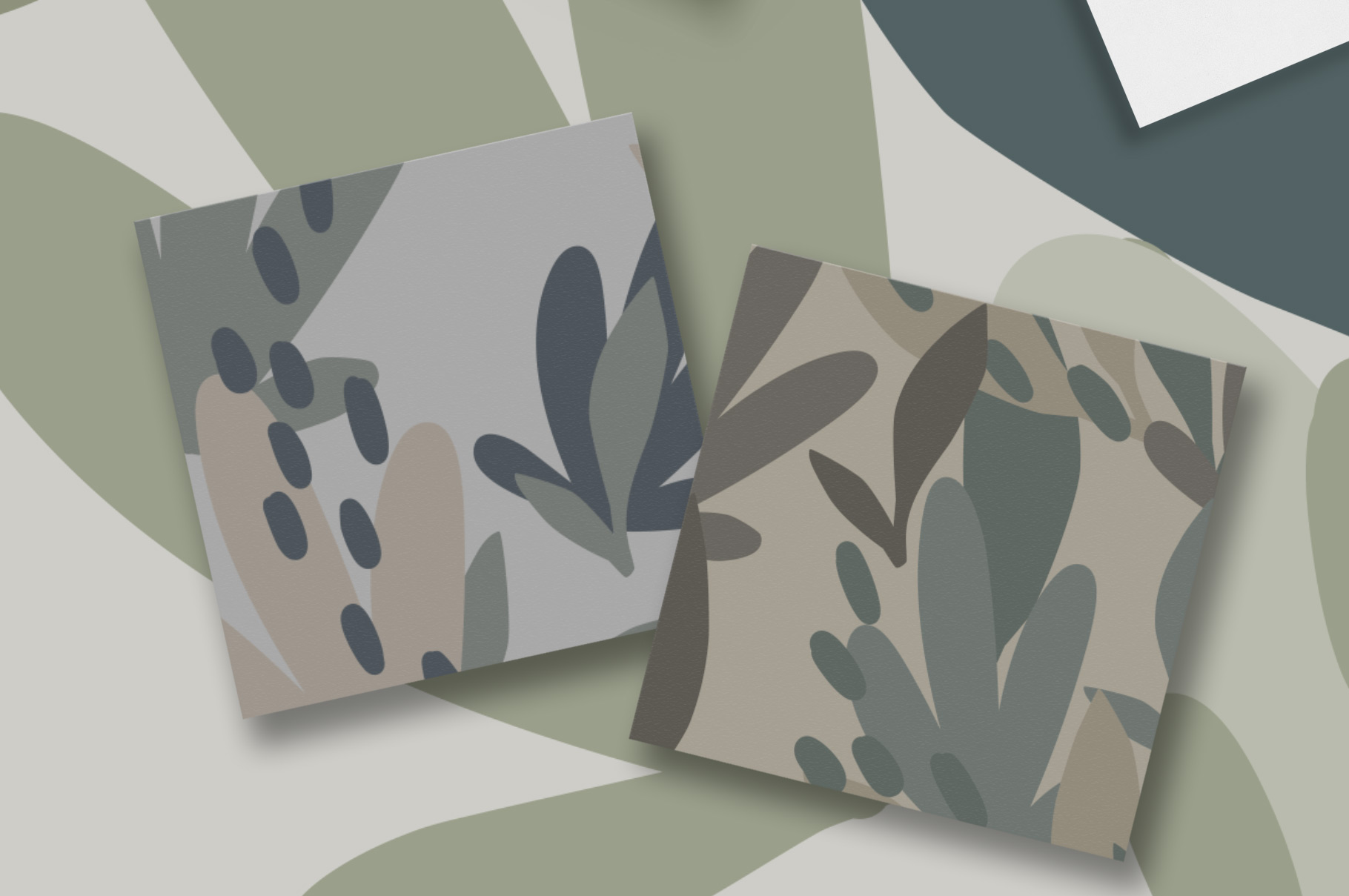 Camouflage Floral Pattern Set example image 3