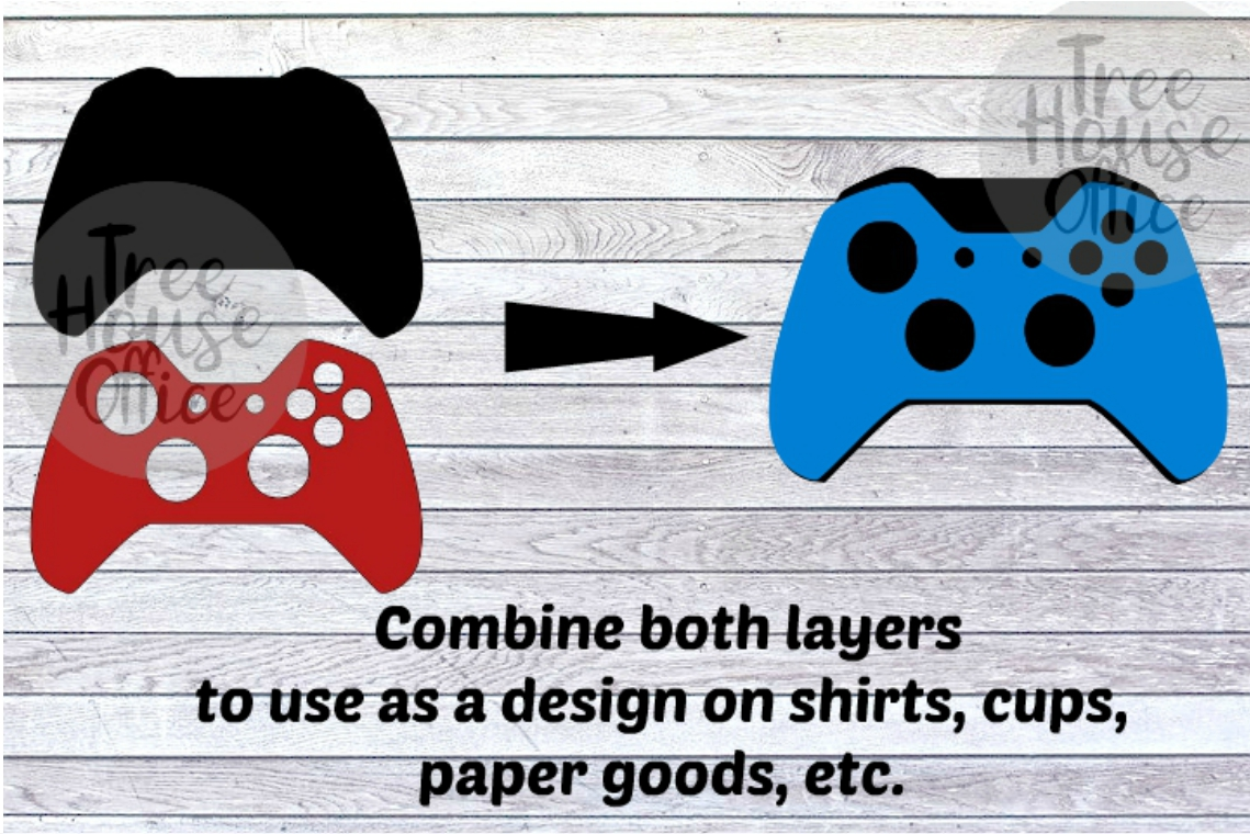 XBOX One Controller Skin Cover Sticker Clip Art PNG JPEG SVG example image 3