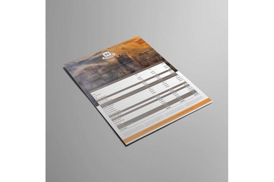 Company Balance Sheet A3 Template example image 3