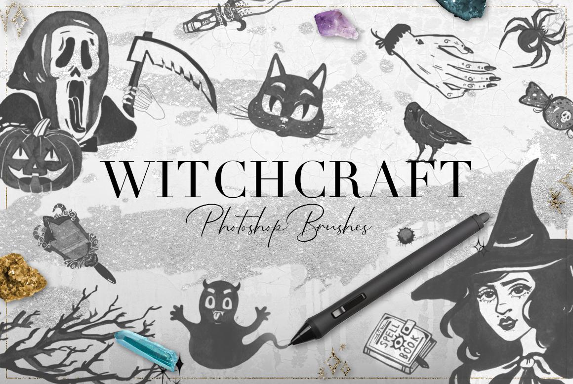 75 Witchcraft Photoshop Brushes example image 1