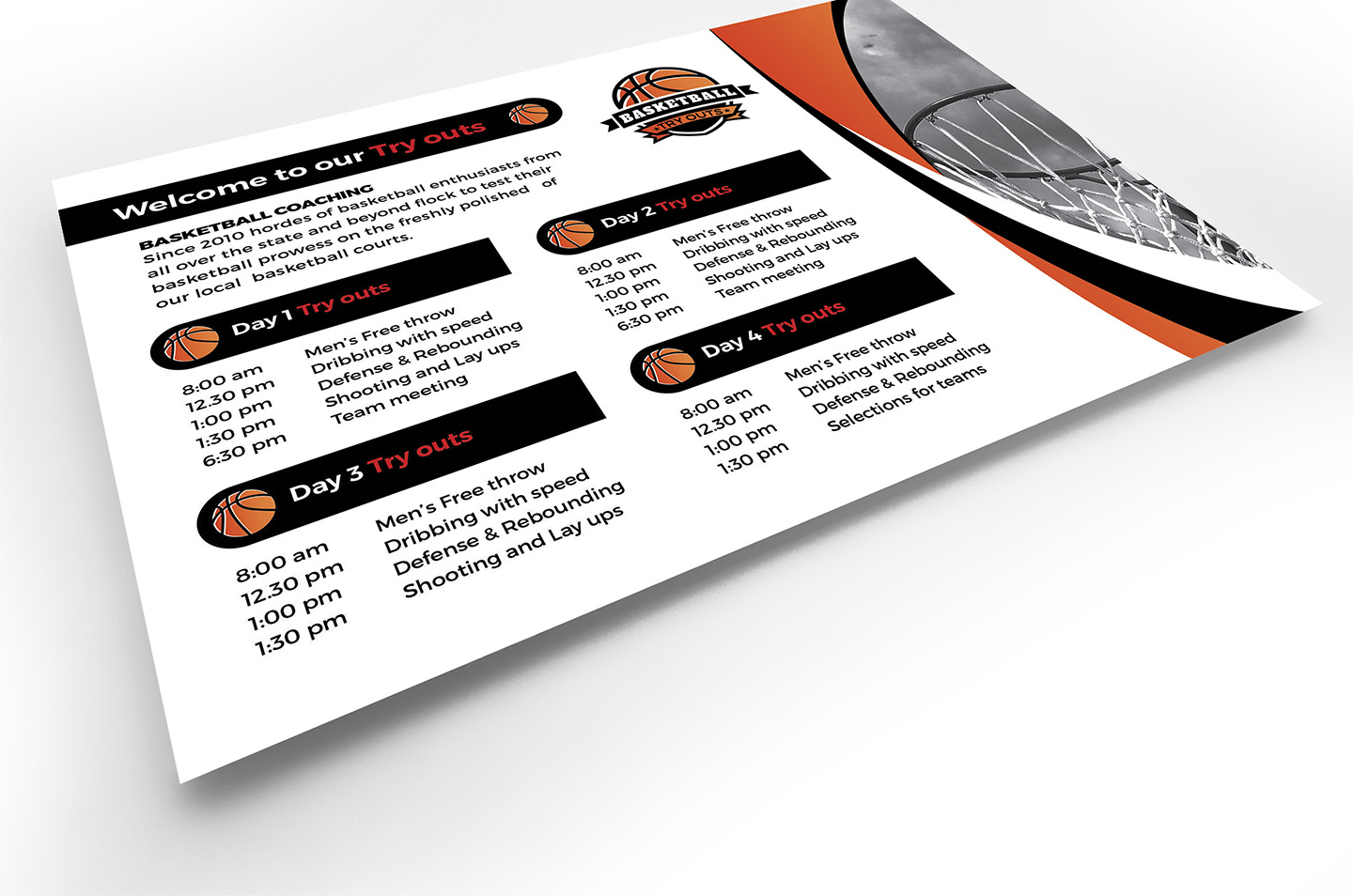 Basketball Flyer Template example image 4