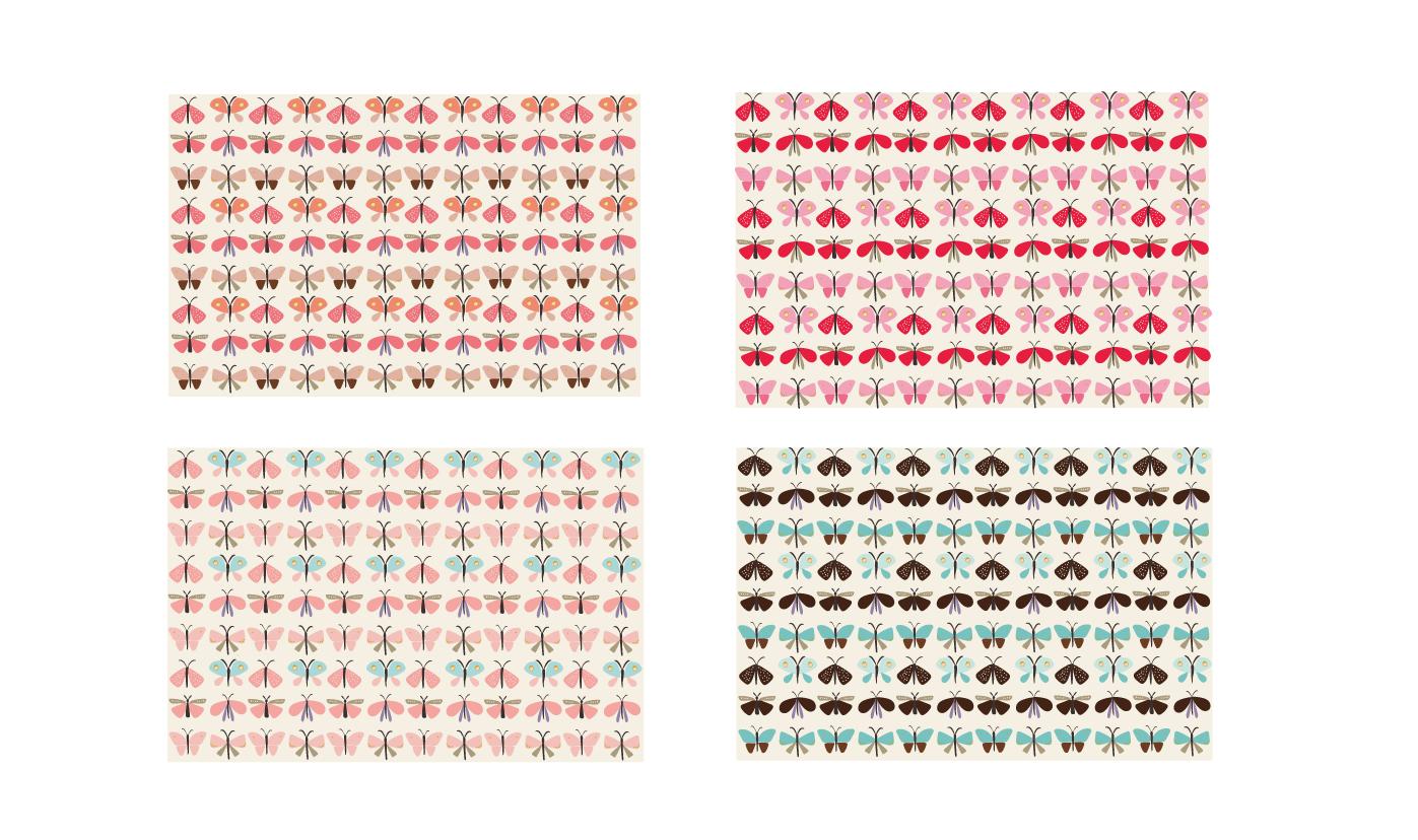 Beautiful butterflies pattern example image 7