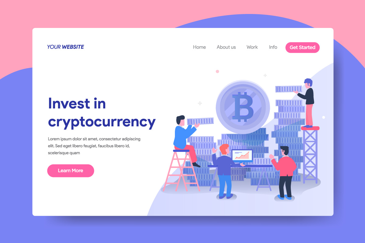Landing page template of Cryptocurrency Investment Service. example image 1