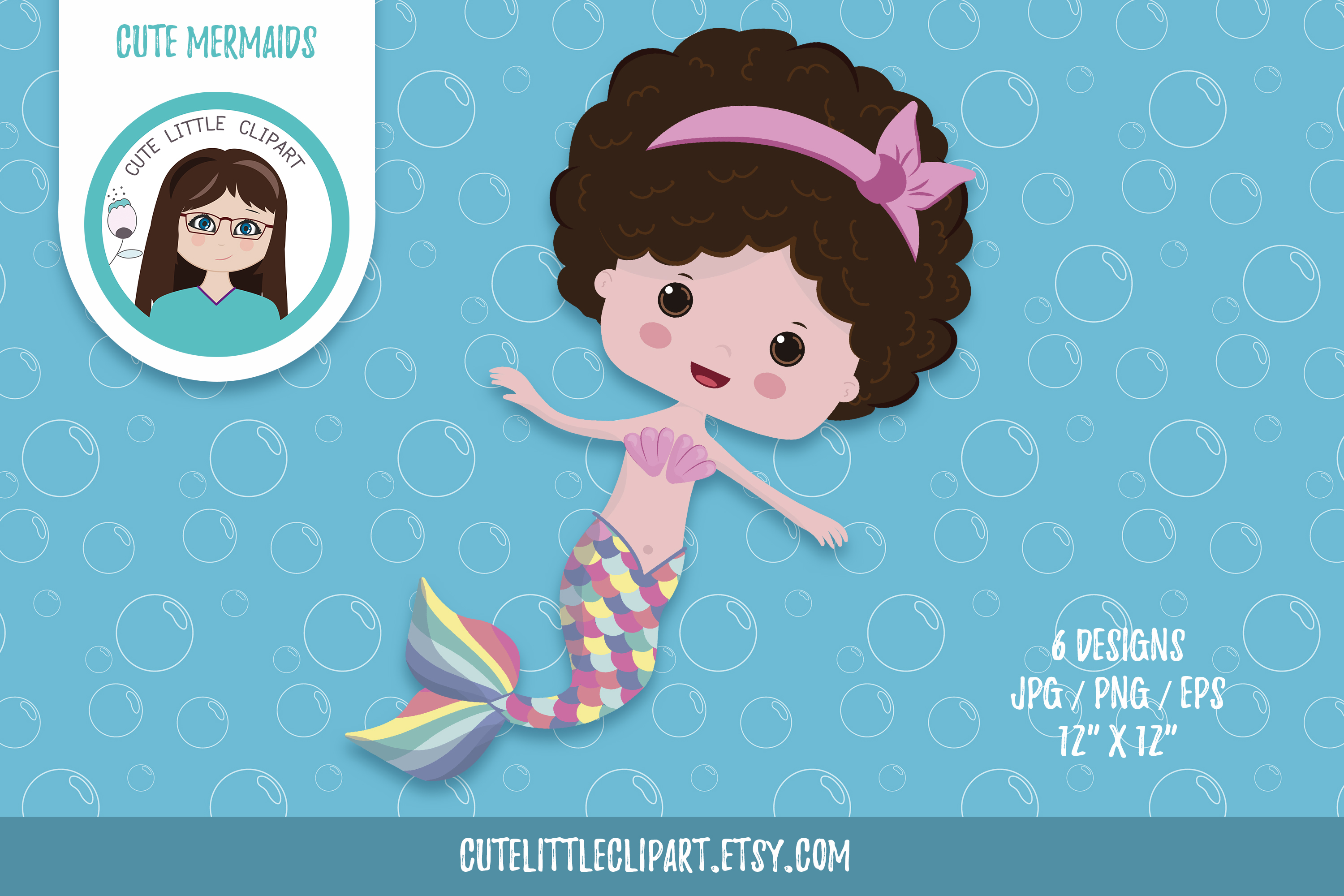 Little mermaid cliparts example image 7