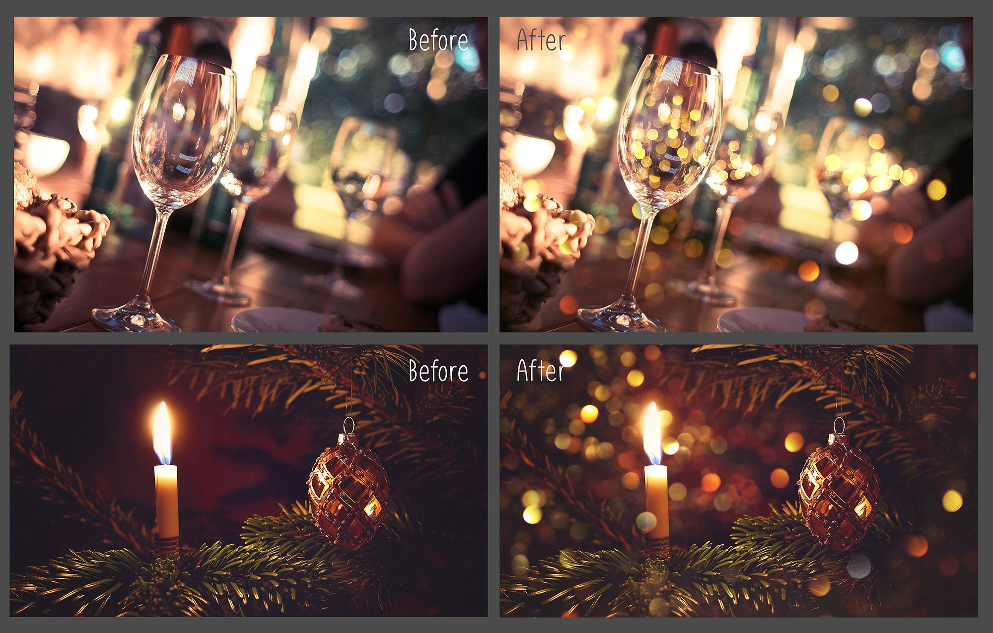 100 Golden Lights Photo Overlays example image 9