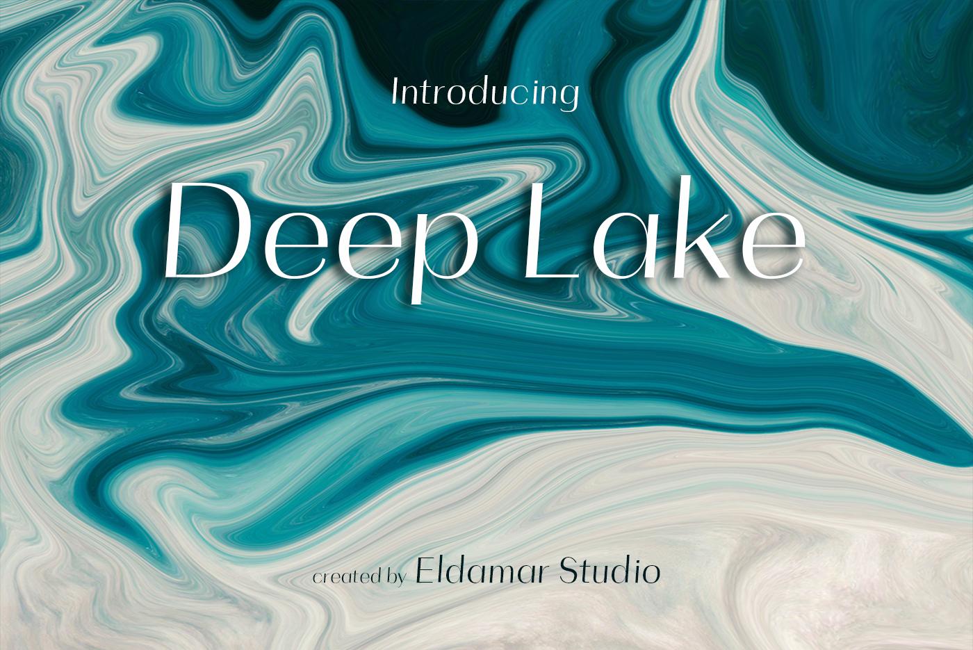 Deep Lake Font example image 1