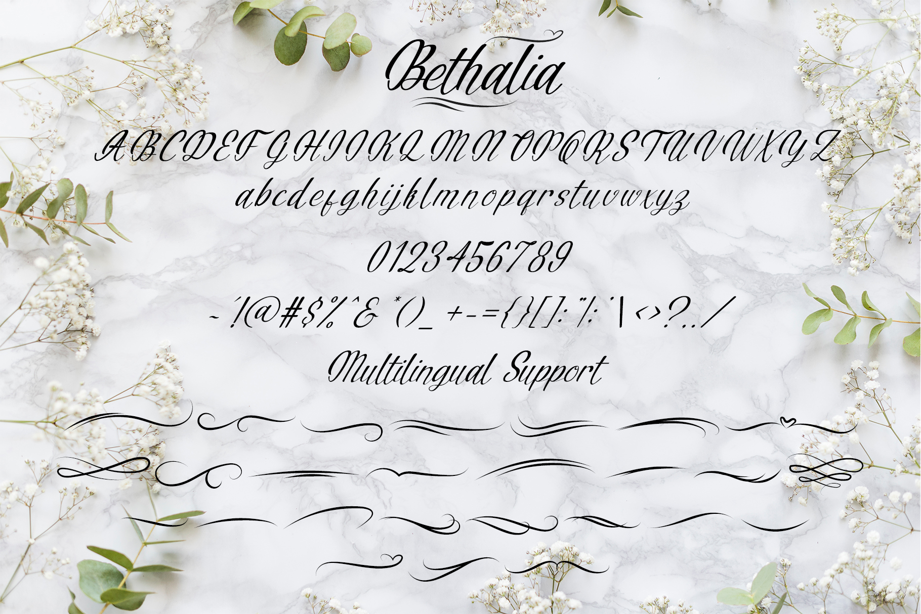 Bethalia Script Font example image 8