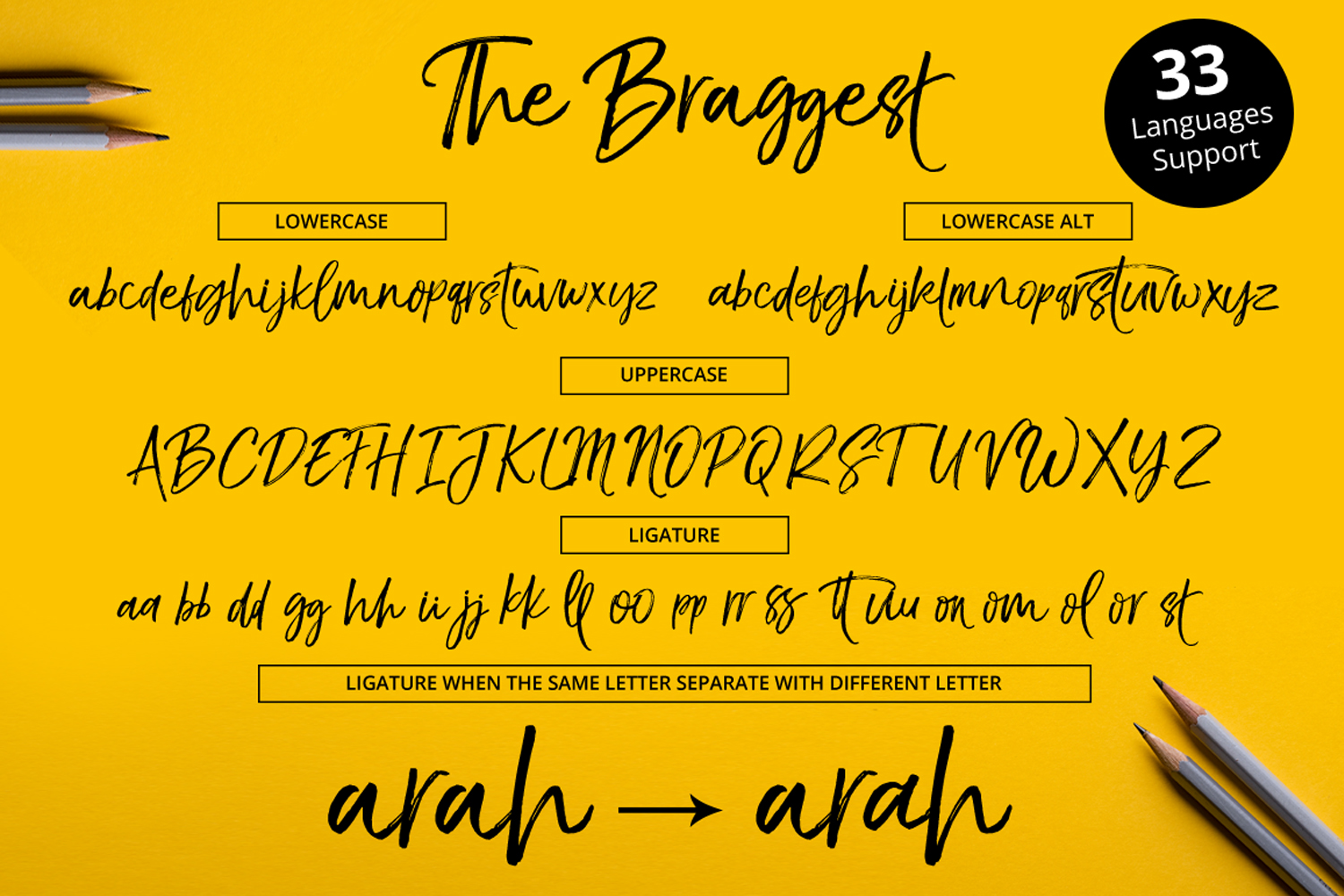 The Braggest + Webfont example image 5