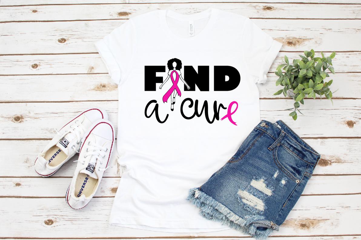 Find a cure, Survivor svg, Pink Ribbon svg example image 1