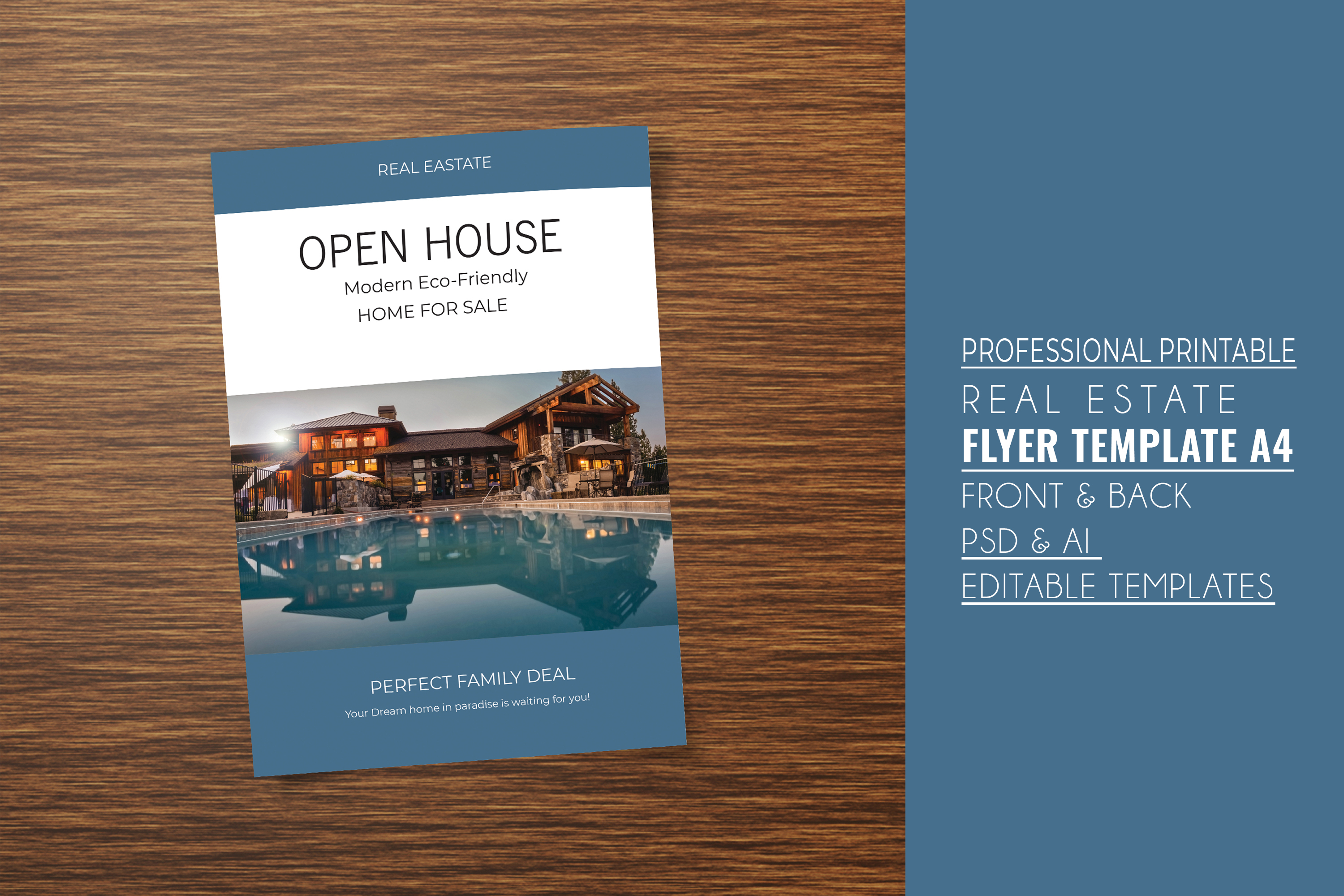 Professional Real Estate Flyer A4 - Printable Templates example image 5
