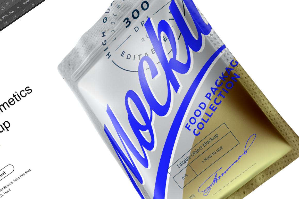 Metallic Cosmetics Bag Mockup example image 6
