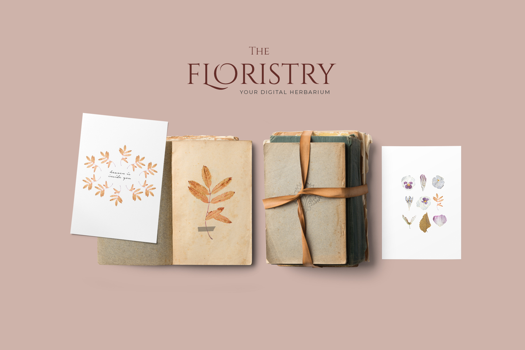 THE FLORISTRY floral collection - watercolor, line art, real example image 15