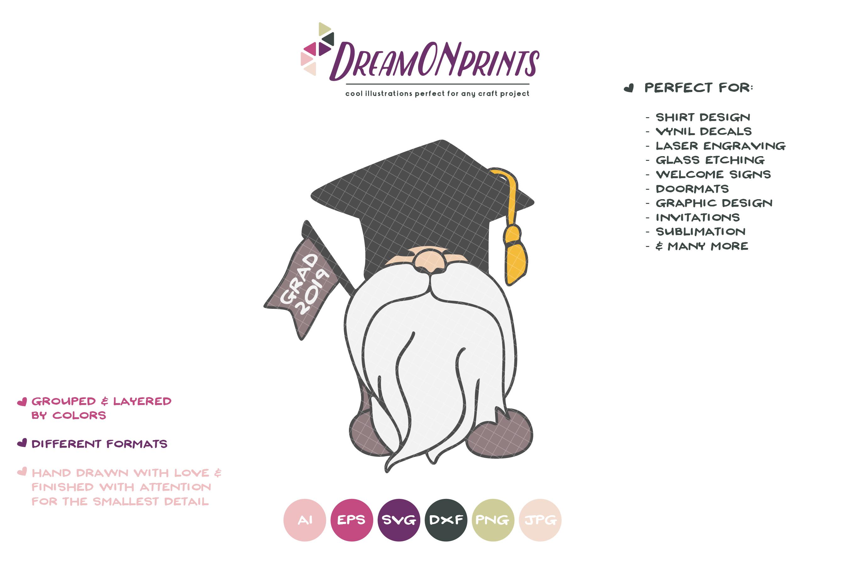 Grad 2019 | Class of 2019 SVG | Senior Gnome example image 2