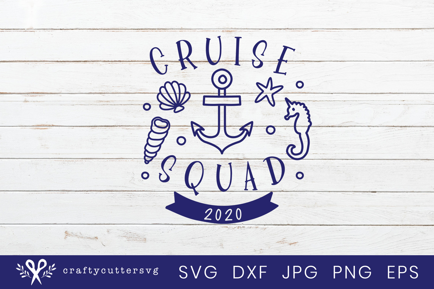 Cruise squad 2020 Svg Cut File Cocktail Shell Anchor Clipart example image 2