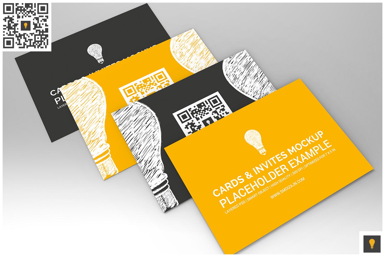 Invitation Card Mockup example image 5