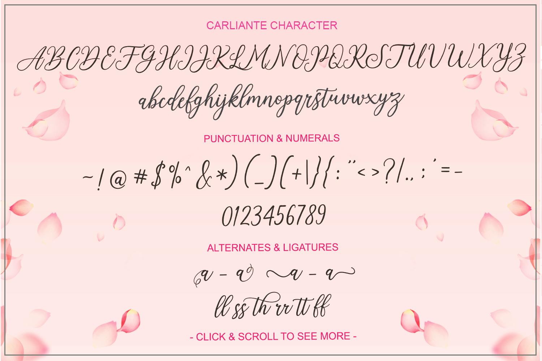 Carliante Script example image 5