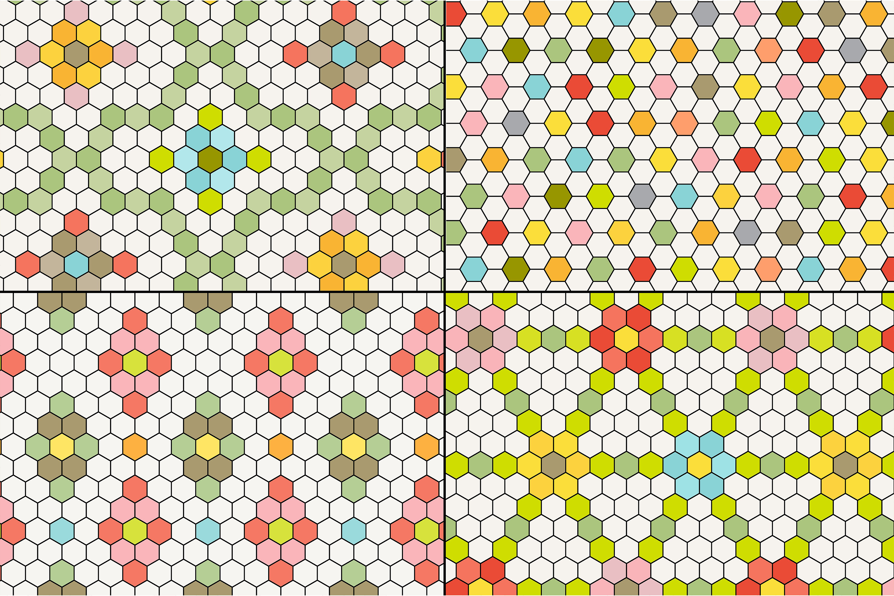 Hexagon Tile Patterns example image 4