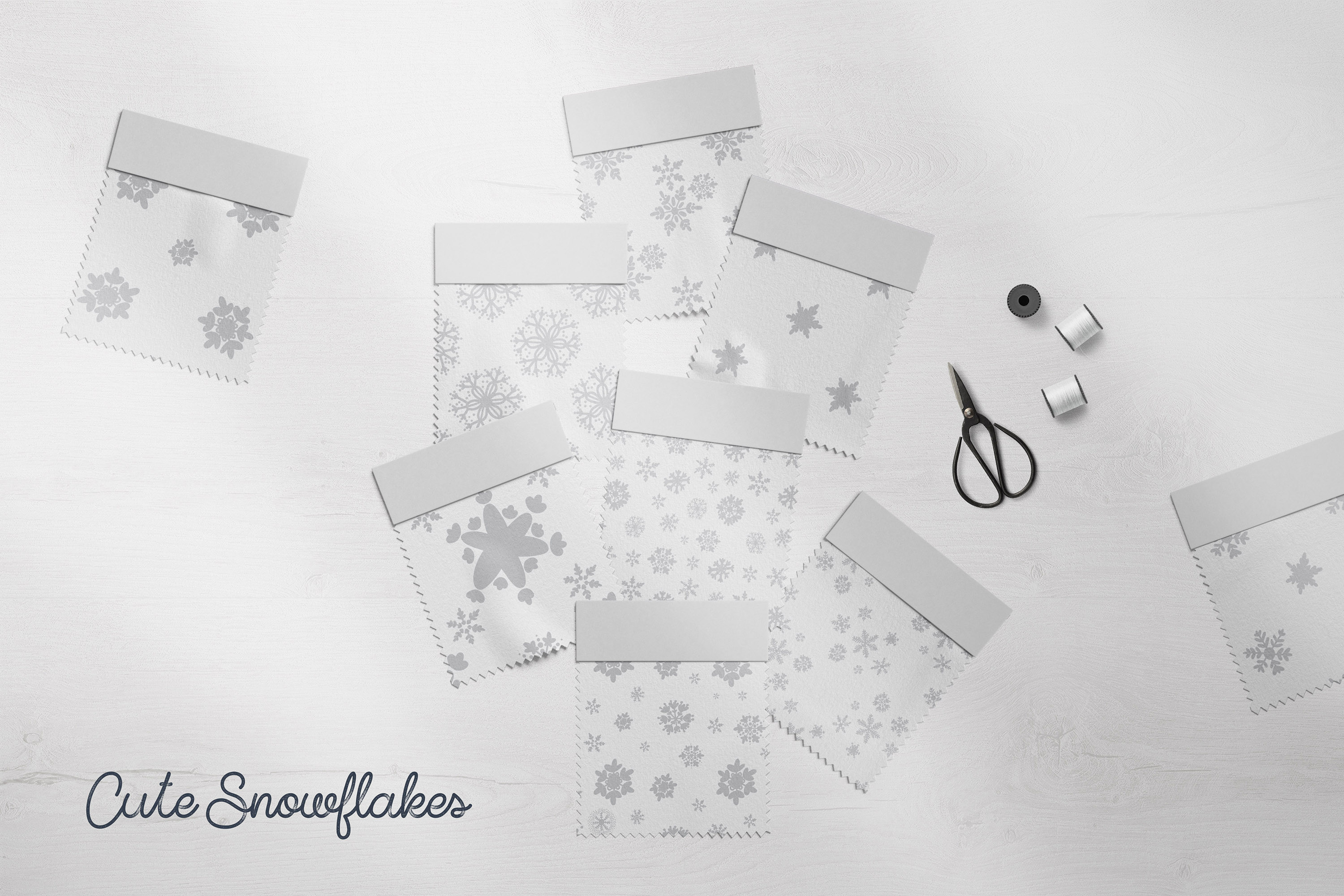 Cute Snowflakes - Winter Doodle Patterns example image 2