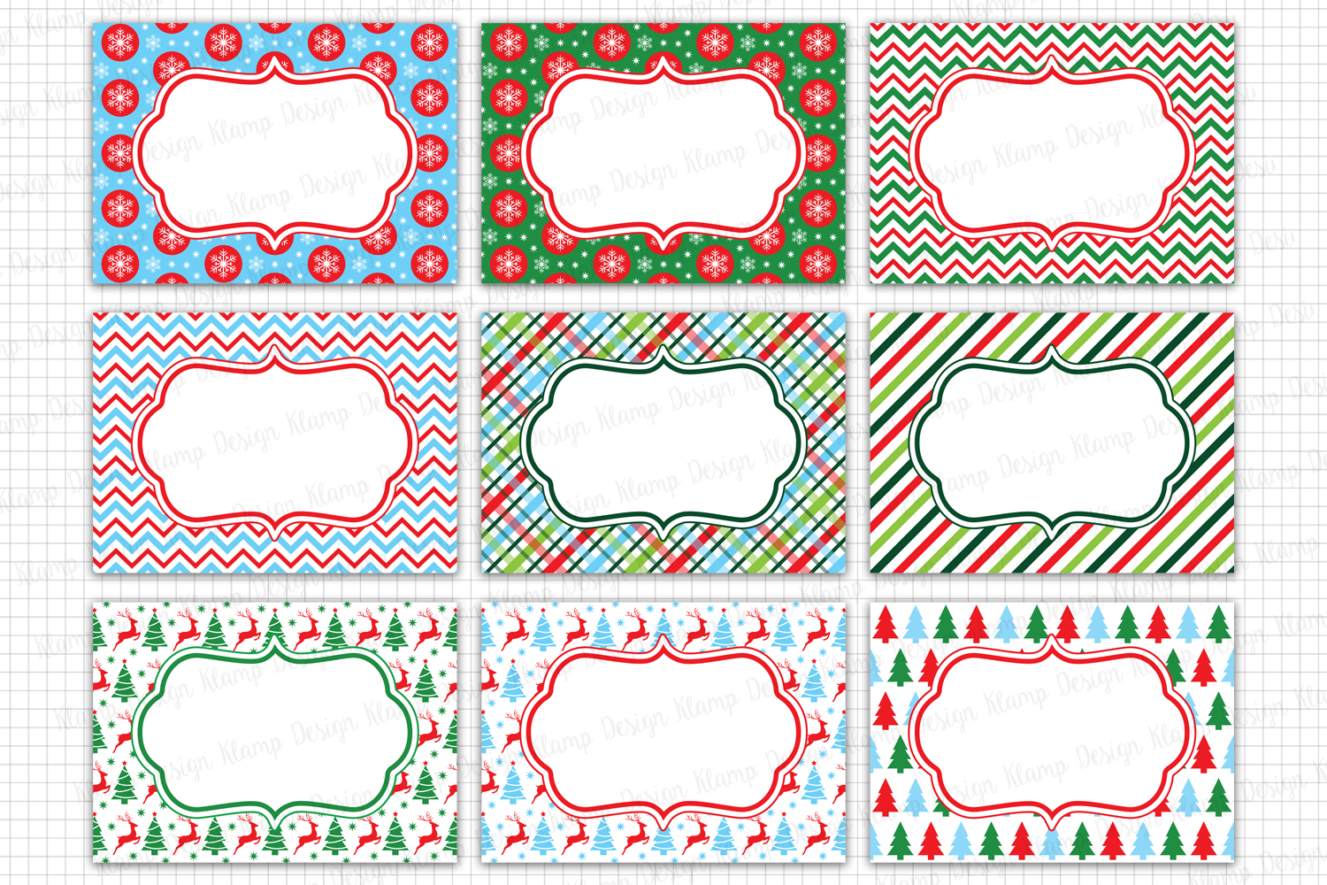 Christmas Labels Graphics and Illustrations / Tags and Labels Clip Art / Christmas Frames Graphics / Christmas Card example image 1
