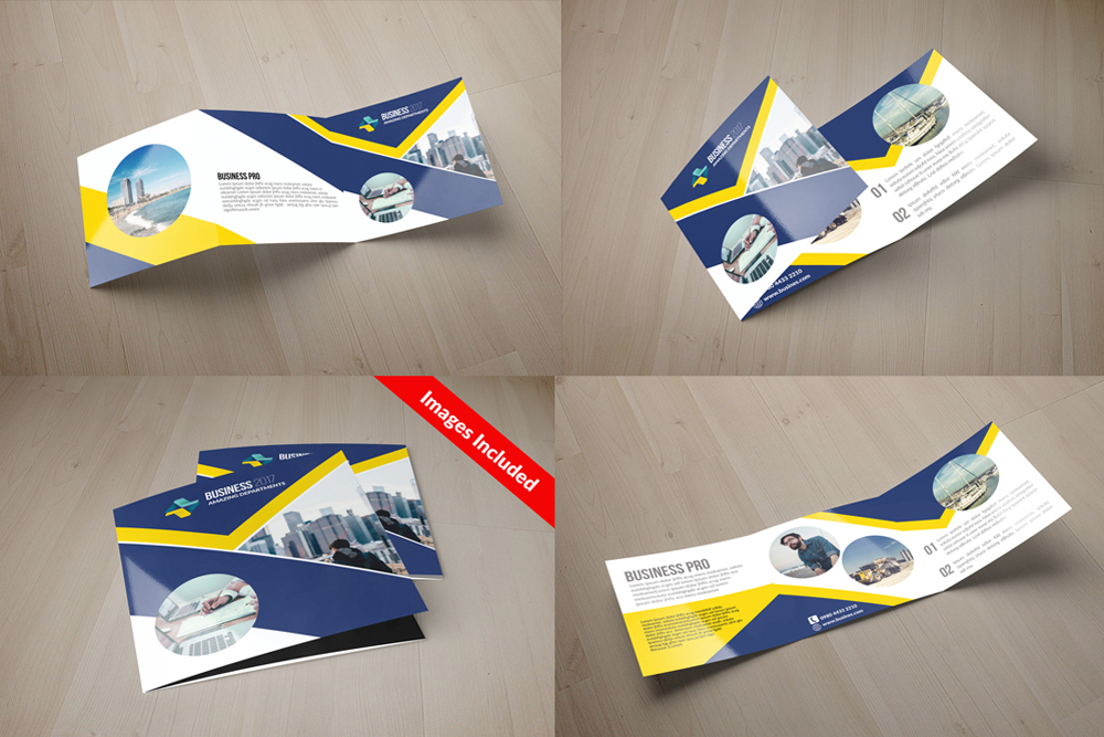 25 Square Trifold Business Brochures Bundle example image 5