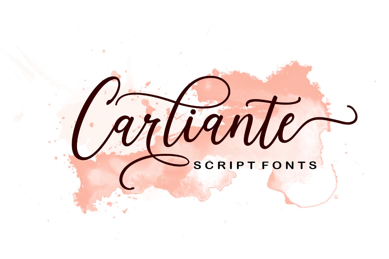 Carliante Script example image 1