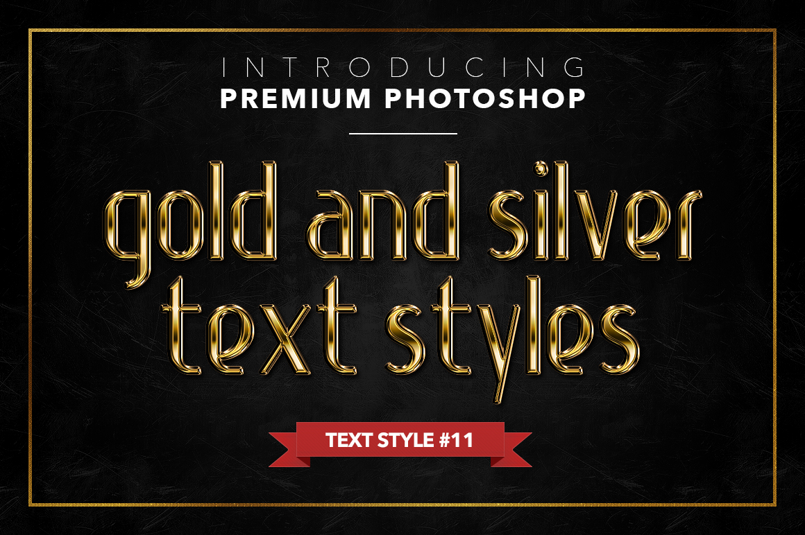 Gold & Silver #1 - 20 Text Styles example image 2