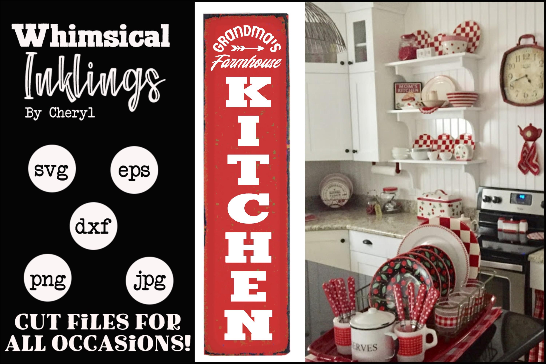 Grandmas Farmhouse Kitchen -Vertical Kitchen SVG example image 1