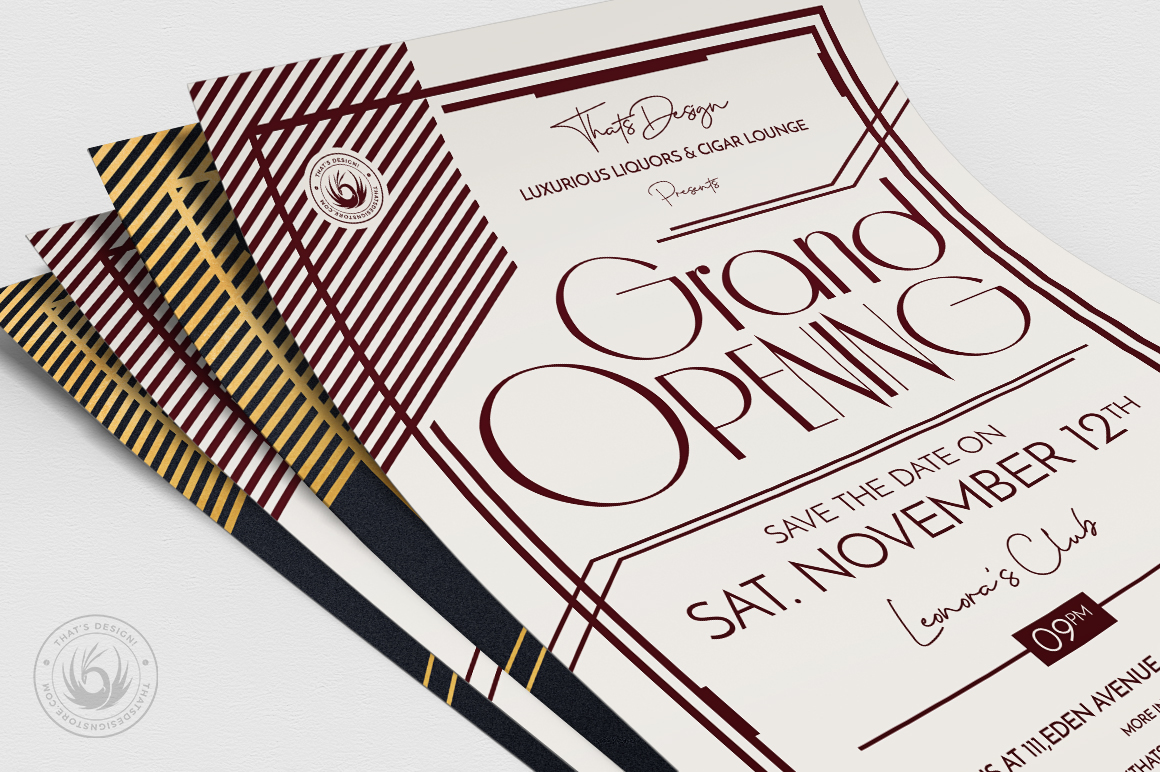 Grand Opening Flyer Template V2 example image 5